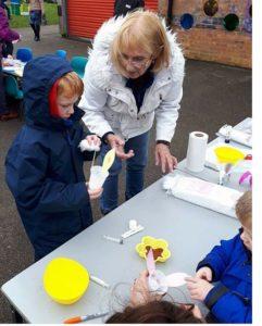 Crafting at the GHRA Egg Hunt