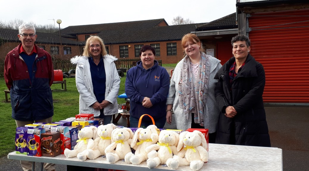 The GHRA Easter Egg Hunt Team and Prizes