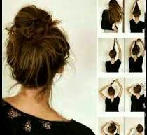 تسريحة الشعر الكعكة