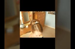 تسريحات شعر بنات صغار للاعراس