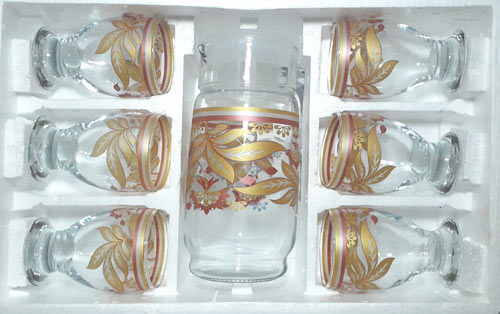 Golden Imported Water Set by Decoware
