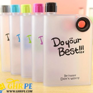 Plastic Notebook Style Portable Water/Sports Bottle 380ML