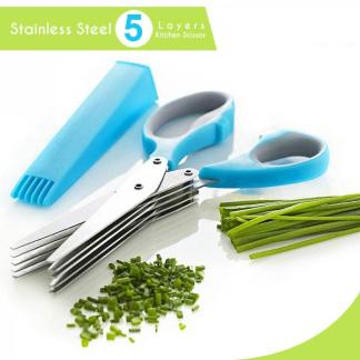 5 Layers Multi-Functional Stainless Steel Kitchen Scissors