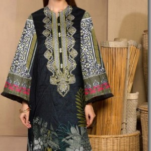 Stylish Digital Lawn Kurti With Embroidered Neck
