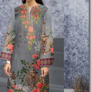 Stylish Digital Lawn With Embroidered Neck Kurti
