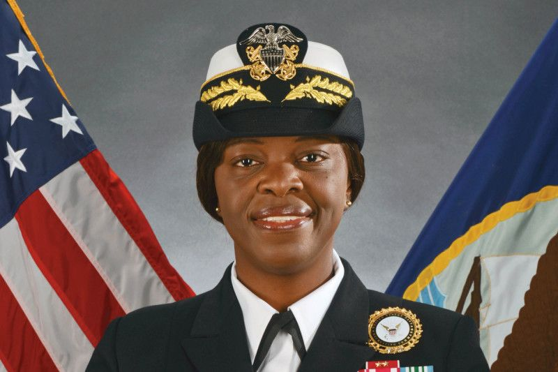 Annie B. Andrews, commander, Navy Recruiting Command