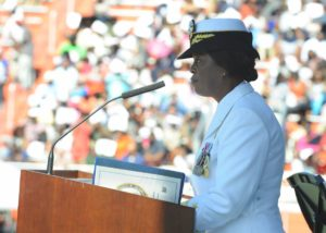 Annie B. Andrews speaking for Navy Recruiting