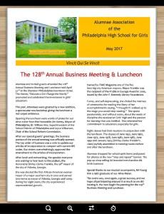 GHS Alumnae Association May Newsletter