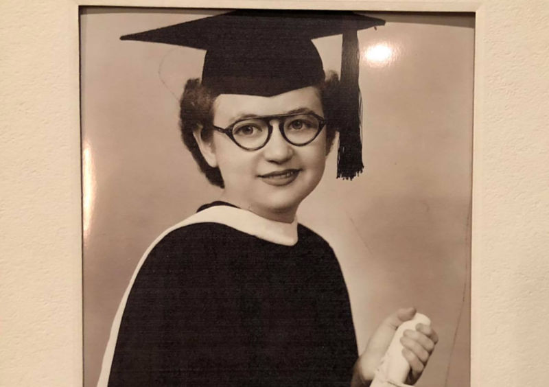 Dorothy Goldstein Kaperstein as a student