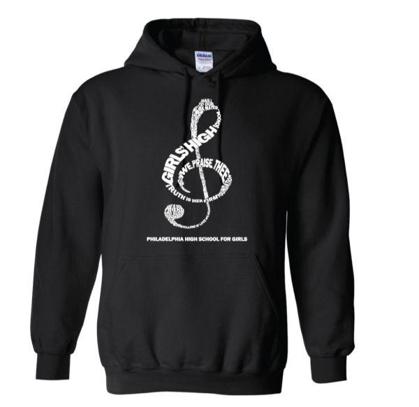 Treble Clef hoodie in black
