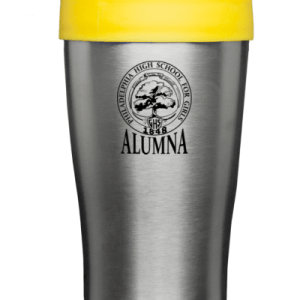 Silver and Yellow Travel Mug