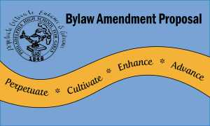 Proposal to Amend Bylaws of the AAPHSG