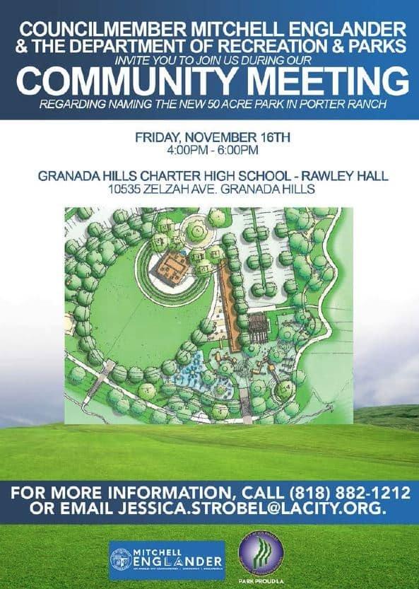 Park Community Meeting
