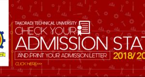 TTU Second Batch Admission list