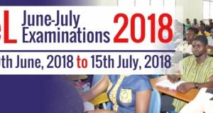 UEW IDL Examination Timetable