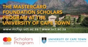 Mastercard University of Cape Town Scholarship
