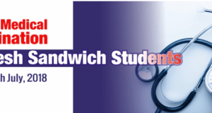 UEW Medical Exam Date for Fresh Sandwich Students