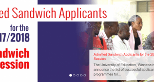 UEW Sandwich Admission List