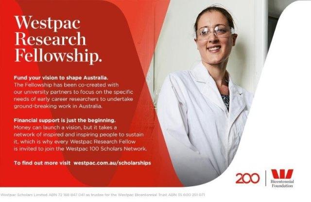 Westpac Bicentennial Foundation Research Fellowship