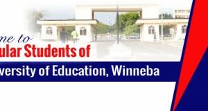 UEW Notice to Regular Students