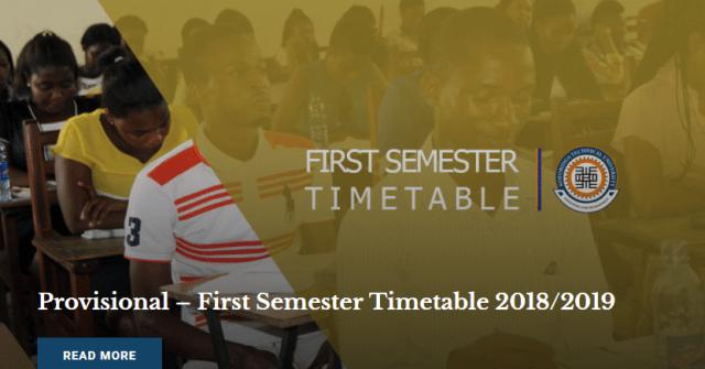 KTU First Semester Timetable