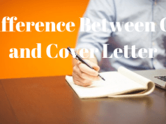 Difference Between CV and Cover Letter