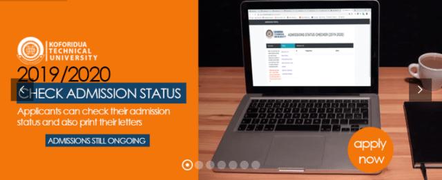 Koforidua Technical University Admission List 2019/2020 is