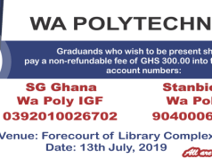 Wa Polytechnic Graduation Ceremony Schedule
