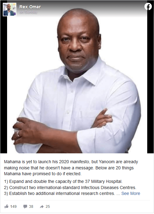 Rex Omar starts massive campaign for Mahama 1