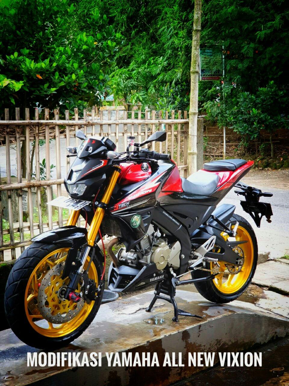 Modifikasi Yamaha All New Vixion Bro Viki Standrt Sporty