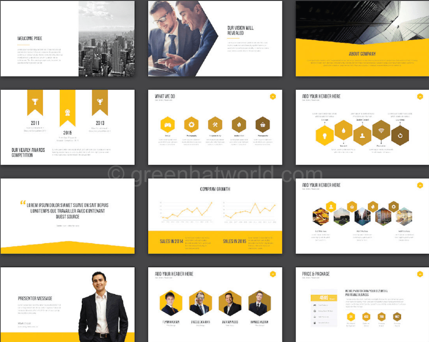 download ghw creative presentation template free ghw download