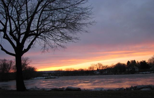 looking westward from Riverside Park