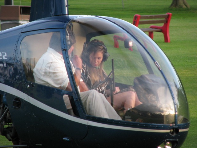 winner of the helicopter ride auction - FCSS Golf Ball Drop 2009