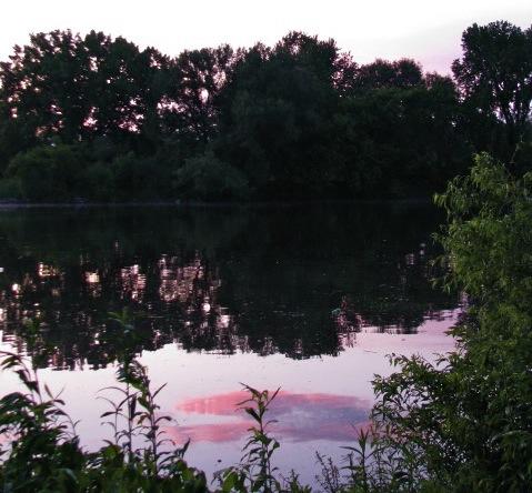 Sunset 1 Cucumber Alley - Reflection 15June2009