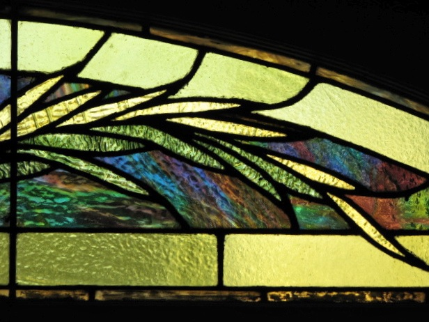 stained glass fronds - 16 Washington Ave.