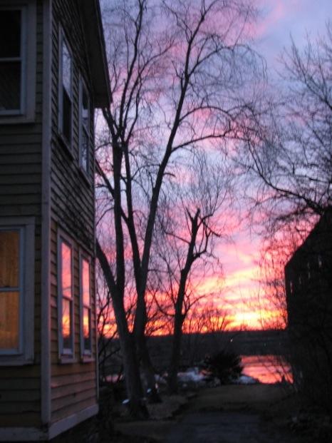 sunset - 11Mar09 - alongside 2 Cucumber Alley