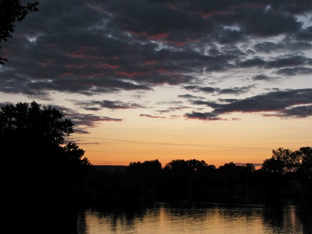 Sunset as seen from Governor's Lane, Schenectady - 19Jul09