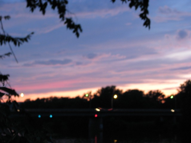 pastel sunset over Scotia from Riverside Park - 11Aug09