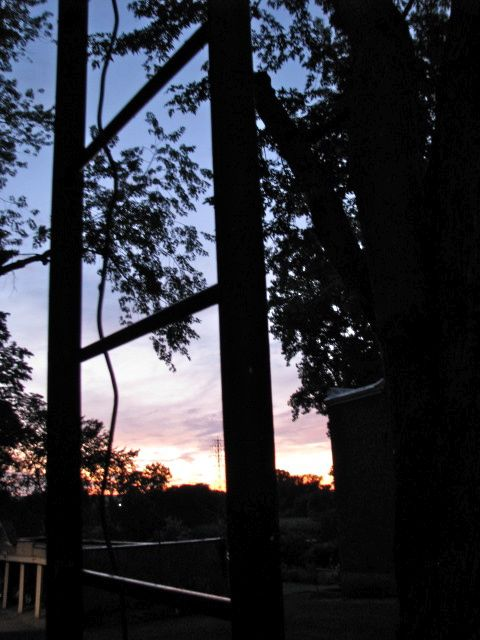 a peek at sunset from my front porch - 08Aug09
