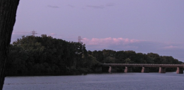 CSX bridge at sunset, Schenectady - Scotia, NY - 15Sep09