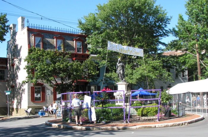 Lawrence Circle at the end of the Stockade Villagers Outdoor Art Show 2008