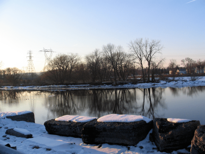 Mohawk River from the end of Washington Ave., Schenectady - 24Feb08