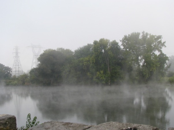 Mohawk River Isle of the Cayugas from Washington Ave. Schenectady - 21Sep09