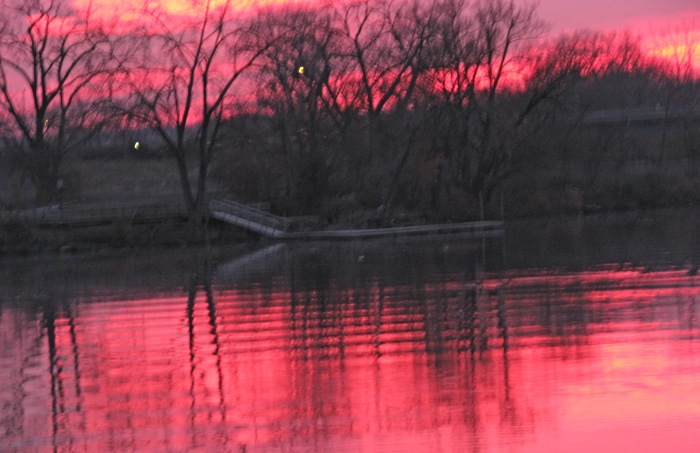 Gateway Landing, Mohawk River, seen from the end of Washington Ave. Schenectady - 05Nov.08