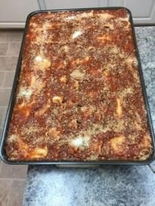 30 pounds of lasagna
