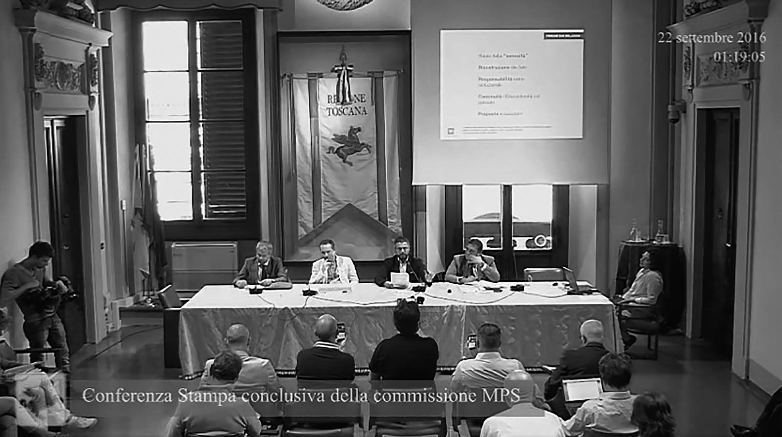 La presentazione della Relazione finale della commissione MPS