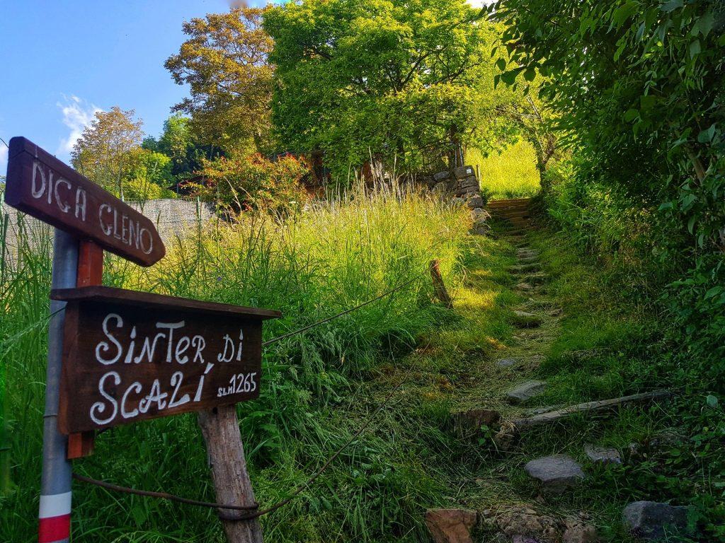 Sentiero per la Diga del Gleno