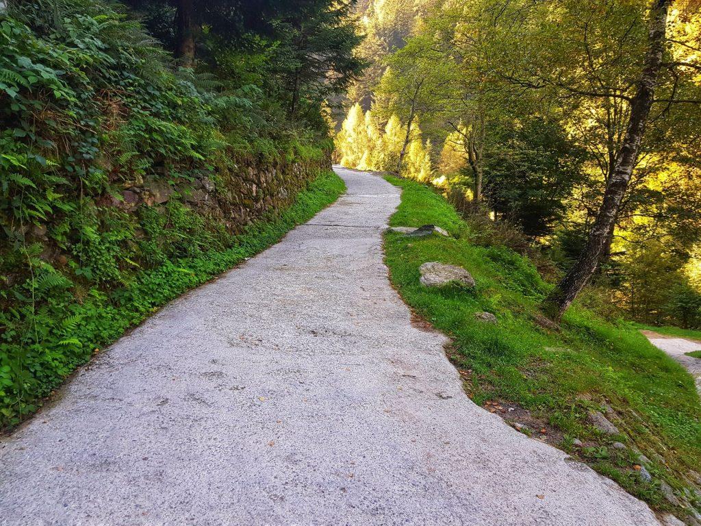sentiero fino al rifugio casera vecchia