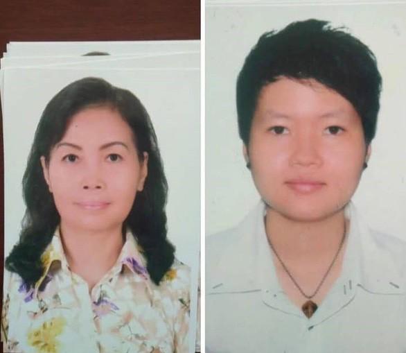 Hai người phụ nữ liên quan tới vụ án (từ trái qua): Trịnh Thị Hồng Hoa, sinh năm 1953 và Phạm Thị Thiên Hà, sinh năm 1988, cùng ngụ quận Tân Phú, TP.HCM.