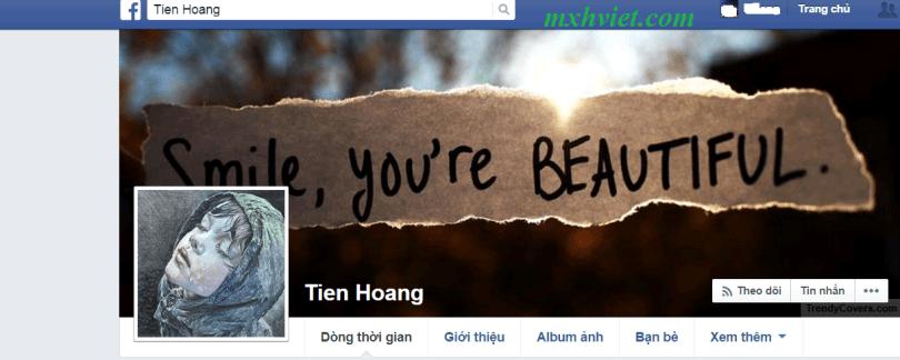 Nút kết bạn facebook bị ẩn